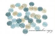 Zobrazit detail - Dřevěné konfety kytičky