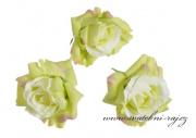 Hlavičky růží zelené - 12 ks