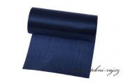 Jednostranný satén navy blue, šíře 12 cm