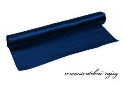 Jednostranný satén dark blue, šíře 36 cm