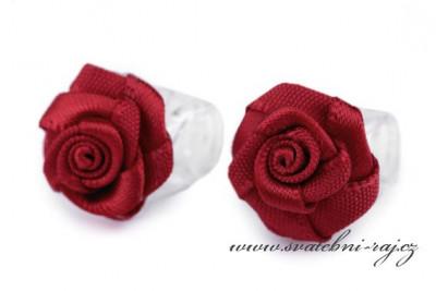 Luxusní růžičky v bordó barvě