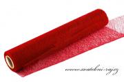 Organza pavučinka červená