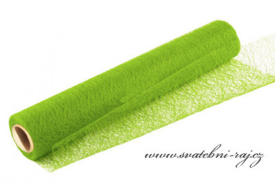 Organza pavučinka jablíčkově zelená