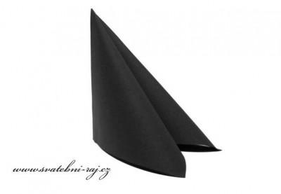 Luxusní ubrousky černé