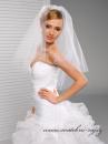 Zobrazit detail - Svatební závoj bez lemu - 65/80 cm