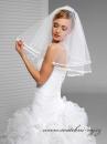 Zobrazit detail - Svatební závoj s lemem - 50/60 cm