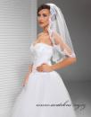 Svatební závoj s krajkou - 80 cm délka