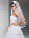 Svatební závoj s krajkou - 90 cm délka