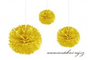 Pom Poms žluté, průměr 30 cm
