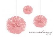 Pom Poms světle růžové, průměr 30 cm