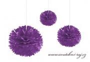 Pom Poms fialové, průměr 30 cm