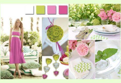 Dekorace V Zeleno Ruzove Barve Letos Leti
