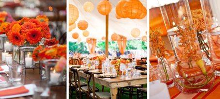 Oranžové svatební dekorace a doplňky. 77e92fa757a