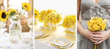 Svatebni Dekorace Ve Zlute Barve Pro Vyzdobu